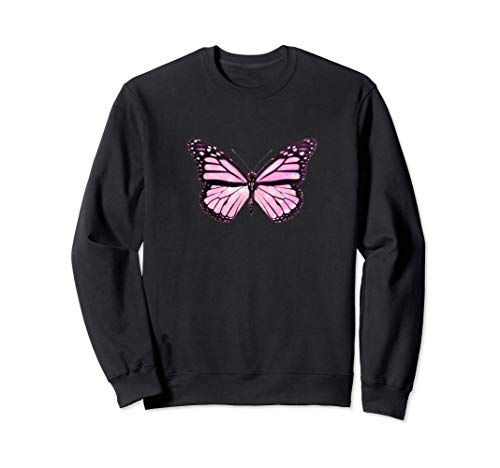 Butterfly Pink Soft Aesthetic Emoji Cute Pink Butterflies Sudadera