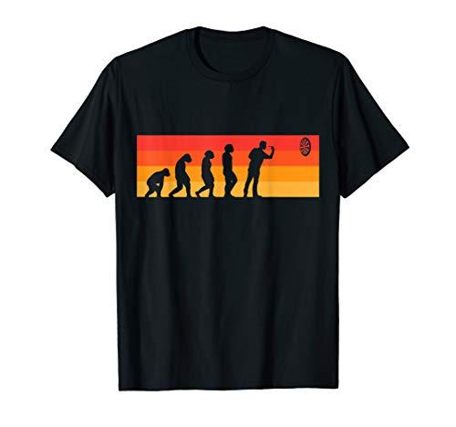 Darts Evolution Dartscheibe cooles Dartspieler Geschenk T-Shirt