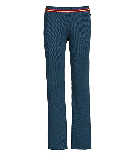 PiP Studio Damen Pyjamahose lang Pants Blair Shiny Stripe Trousers Long 260937, Farbe:Blau, Wäschegröße:M, Artikel:-Blue