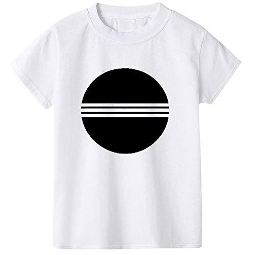 QPM - Camisetas de manga corta para niños y niñas de algodón (1 a 10 años) Blanco Blanco¡3 18 Meses