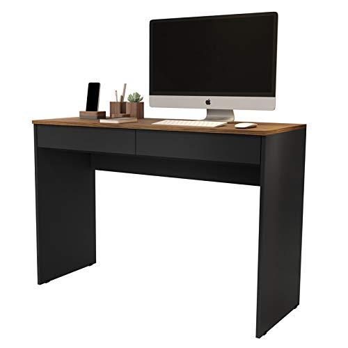 Escrivaninha Home Office - Preto/Freijó - Mania de Móveis