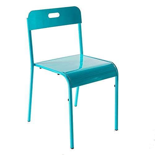 Atmosphéra Chaise métal Vintage Bleu