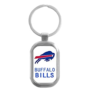 CHNNFC NFL Premium Domed Stainless Steel Keychain (Buffalo Bills)