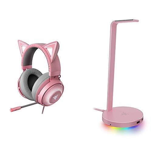 Razer Kraken Kitty RGB USB Gaming Headset + Base Station V2 Chroma: Quartz Pink