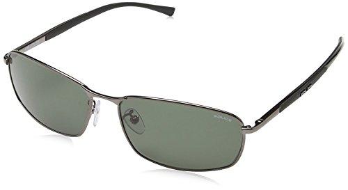 Police - Gafas de sol Rectangulares S8650 para hombre