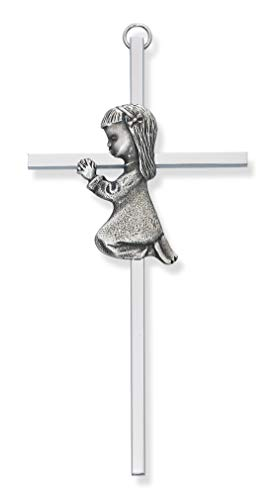McVan Inc. 6 Silver Girl Cross - Décor Gift Religious 73-13603-MCVAN