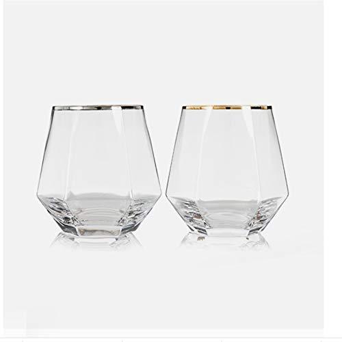 ZMK-720 Cristalería Cóctel De Vidrio Cristal Té Café Vidrio For Beber La Copa De Vino De Cristal Transparente De Cristal del Vidrio De Vino #S888 (Color : B)