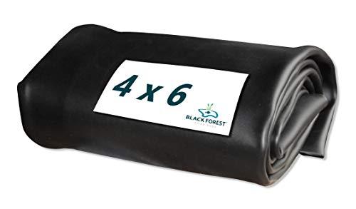 Black Forest Pond Shop Bâche pour bassin en PVC noir 0,50 mm, 4 x 6 m