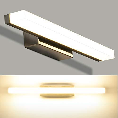 LEDMO LED Spiegelleuchte 40cm 4000K Naturweiß,IP44 Wasserdicht Edelstahl Badleuchte für Wandbeleuchtung und Badzimmer,SMD2835 8W 800LM Schminklicht Wandleuchte Badlampe 220V