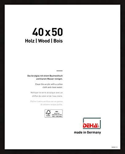 DEHA Holz Bilderrahmen Fontana, 40x50 cm, Schwarz