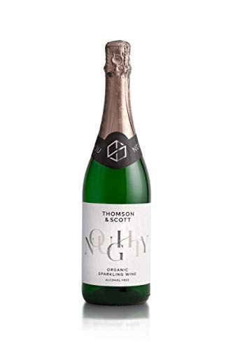 Thomson & Scott Noughty, Award Winning, Alcohol Free, Organic Sparkling Chardonnay, Low-Sugar, Halal Certified, Vegan Friendly - Great Gift for Expecting Mums, New Mums, Christmas, Secret Santa - 75cl