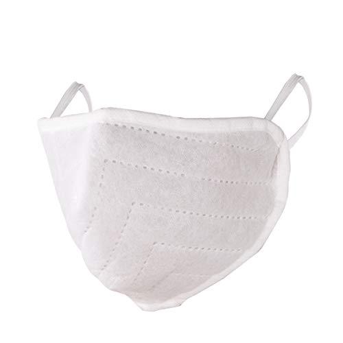 5 x Mund Nasen Maske Behelfs-mundschutz wiederverwendbar weiß 3-lagig