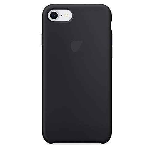 NAYKODI Soft Silicone Slim Back Cover Case for Apple iPhone 7/iPhone 8 (Black)