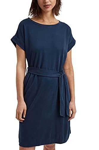 ESPRIT Fließendes Jerseykleid mit Bindegürtel