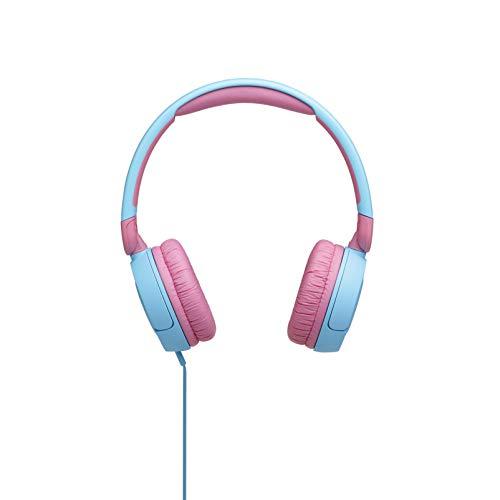 JBL Jr310 On-Ear Kinder-Kopfhörer in Hellblau-Rosa – Kabelgebundene Ohrhörer mit Headset und Fernbedienung – Ideal für Schule und Freizeit