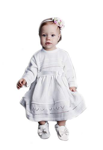 HOBEA-Germany Baby Taufkleid Blumenmädchen Festkleid, Modell: Lena, Größe Kleider:80