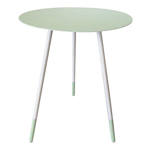 BOMDB|#Bombay Duck Round Enamel Side Table Large, Metal, Pistachio, 45x45x59 cm