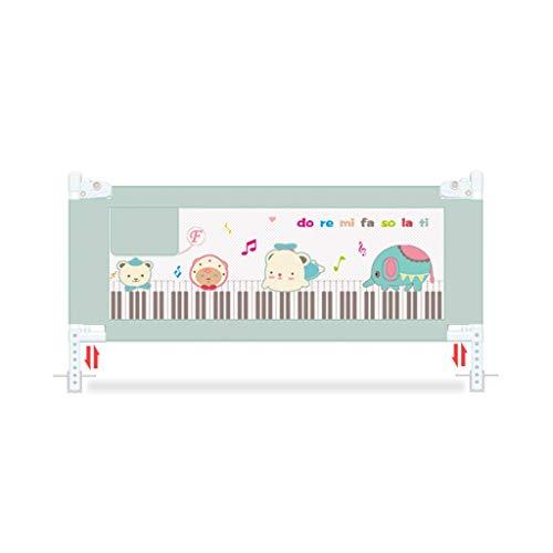 JUEJIDP Metallbett Zaun Baby bruchsicher Schutzgeländer vertikal heben Bett Seitenwand 7 Gangposition einstellbare Höhe 88cm Kinderlaufstall (Farbe : C, größe : 180X88cm)