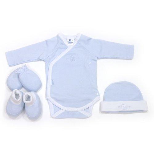 Cambrass 16778 - Juego de 4 piezas para bebe recién nacido, talla 52 cm, color celeste