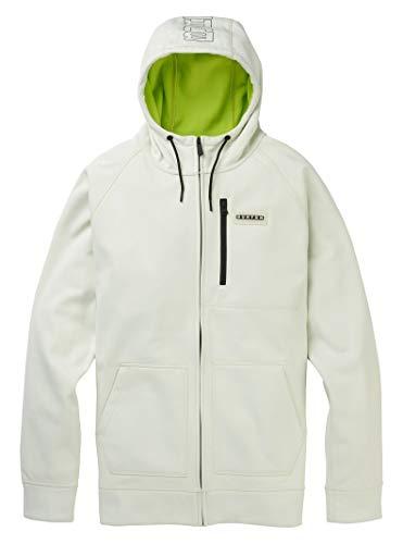 Burton M MB Crown Bonded Full-Zip Hoodie Weiß, Herren Sweaters und Hoodies, Größe M - Farbe Stout White