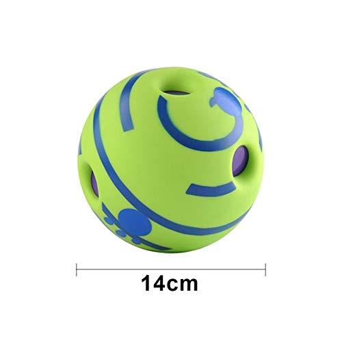 LIZHIOO Bola del Entrenamiento del Juguete Perro de la diversión de la risita Sonidos de la Bola del Gato del Perro casero Juguetes silicio Salto Juguete Interactivo for los pequeños Perros Grandes