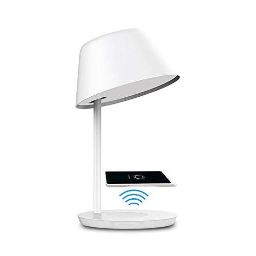 Lampada da tavolo touch LED intelligente dimmerabile Yeelight con controllo vocale, ricarica wireless, temperatura di colore 2700K-6500K regolabile (18W Pro)