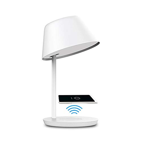 Yeelight Dimmable Wifi Smart LED Lámpara de mesa táctil con control de voz, carga inalámbrica, 2700K-6500K Temperatura de color ajustable (18W Pro)