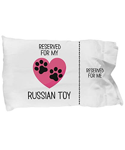 Toll2452 Casos de almohada de juguete ruso regalo divertido para los dueños de juguetes rusos de juguete amante del perro de juguete regalo reservado para mi juguete ruso