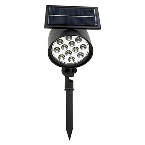 ANTLSZH Proyector Solar Proyector Luz Solar Exterior Impermeable 12 LED Luces de jardín con energía Solar Proyección Impermeable Luz de Paisaje de jardín(Color:luz Calida)