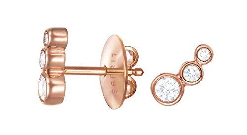 Esprit Essential Damen-Ohrstecker ES-SYMPHONY ROSE 925 Silber rhodiniert Zirkonia transparent - ESER92995C000