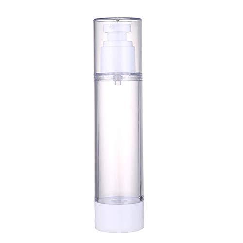 Gebuter Plastic Airless Vacuum Pump Toiletry Travel Bottles Makeup Cosmetics Refillable Dispenser Containers Leak Proof for Cream Gel Spray Moisturizers