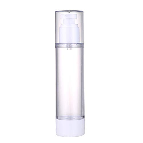Dušial Empty Refillable Clear Plastic Airless Vacuum Pump Press Bottle Lotion Dispenser Mist Spray for Travel Bottles Makeup Cosmetics for...
