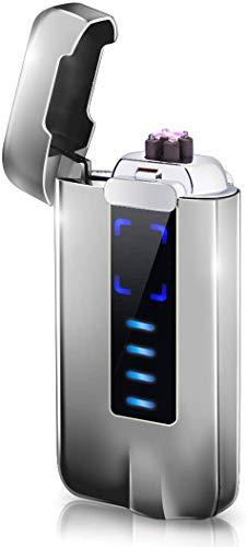 NAOLIU Lichtbogen Feuerzeug,Plasma Feuerzeug USB,Winddicht Elektro Feuerzeug,Elektronische Feuerzeug mit Berühren Bildschirm, Elektrisches Feuerzeug mit Batterieanzeige,für Kerzen Grill Kamin