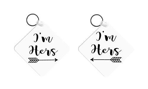 Lesbian Wedding Gift for Couple Girlfriend Key Chain Set Anniversary Present