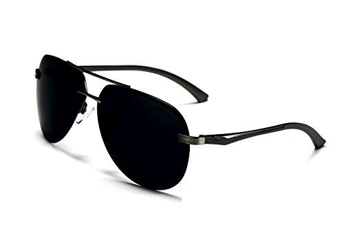 AORON HD Mode Polarisierte Sonnenbrille Herren Outdoor Sportarten Schutz Brille UV-Schutz Fahrbrille (grau)