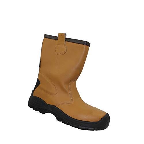 Ergos Dublin 2 S3 SRC Sicherheitsschuhe Arbeitsschuhe Berufsschuhe Businessschuhe Trekkingschuhe Stiefel Beige B-Ware, Größe:42 EU
