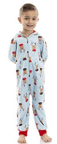 Toddler Boy Blue Deer Blanket Sleeper Onesie Pajamas 5T
