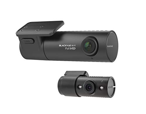 BlackVue DR590W-2CH IR (128GB) Taxi and Ride Share Dash Cam with Front-Facing and Interior Infrared Camera, Cloud Connected, Wide-Angle Full HD, Sony STARVIS Night Vision and Parking Mode Logo