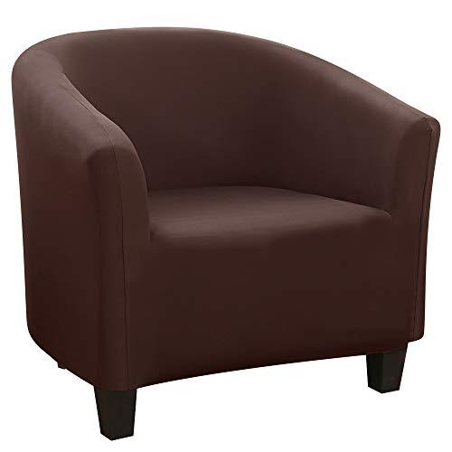 HIFUAR Funda de Sillón Chesterfield Elásticas Lavable Cubre Sofá de 1 Plaza Universal Antideslizantes Cubierta Protector de Muebles para Butaca,Sofá,Chester 1 Plaza,Color Cáfe