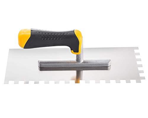 Cazzuola quadrata per piastrelle, 8 10, 12 mm, spatola in acciaio inox, spatola, 28 x 12 cm