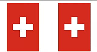 Switzerland String 30 Flag Polyester Material Bunting - 9m (30`) Long