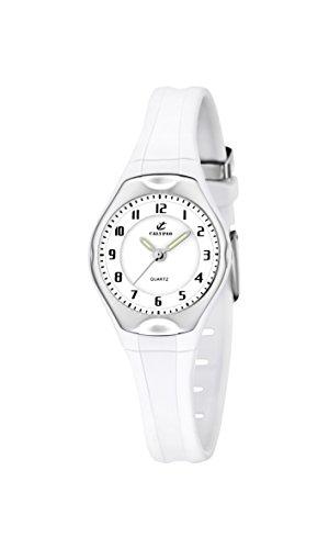 Calypso 5163/H - Reloj para niñas de cuarzo, correa de goma color blanco