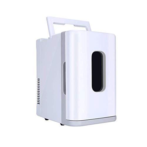 LYJ 10L mini coche mini refrigerador caliente y el pecho de almacenamiento estudiante dormitorio doble escolar fría (Color: Blanco)