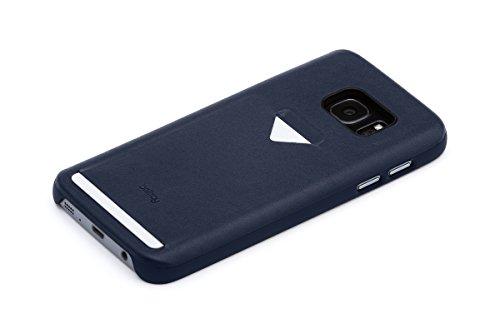 Bellroy Funda de teléfono de Piel Samsung Galaxy S7 Phone Case - 1 Card Blue Steel