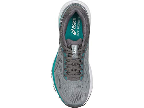 ASICS Women's GT-1000 7 Running Shoes, 7.5M, Stone Grey/Carbon 4