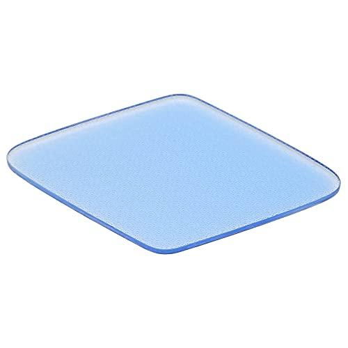 Lima para pies, Nano Glass Ergonomic Rhombus Profesional Cómodo depurador de pies para el cuidado de los pies para pieles duras para agrietamiento para pies secos y húmedos(blue)