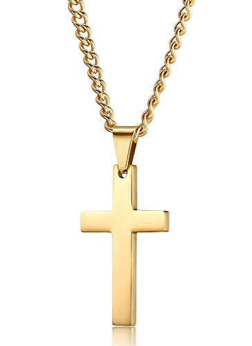 Jstyle Jewelry Stainless Steel Mens Cross Necklace Women Pendant Charms 56cm