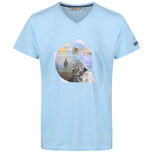 Regatta Calton T-Shirt Homme, Powder Blue, FR : S (Taille Fabricant : S)