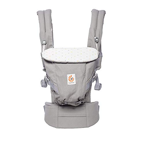 Ergobaby Adapt Award Winning Ergonomic Multi-Position Baby Carrier, Newborn to Toddler, Confetti