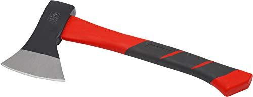 Meister Beil 600 g - Vibrationsarmer Stiel aus Fiberglas - Kompakte Form - Gummiertes Griffende - Zur präzisen Bearbeitung von Holz / Handbeil mit Schneidschutz / Spaltbeil / Camping-Beil / 2150200